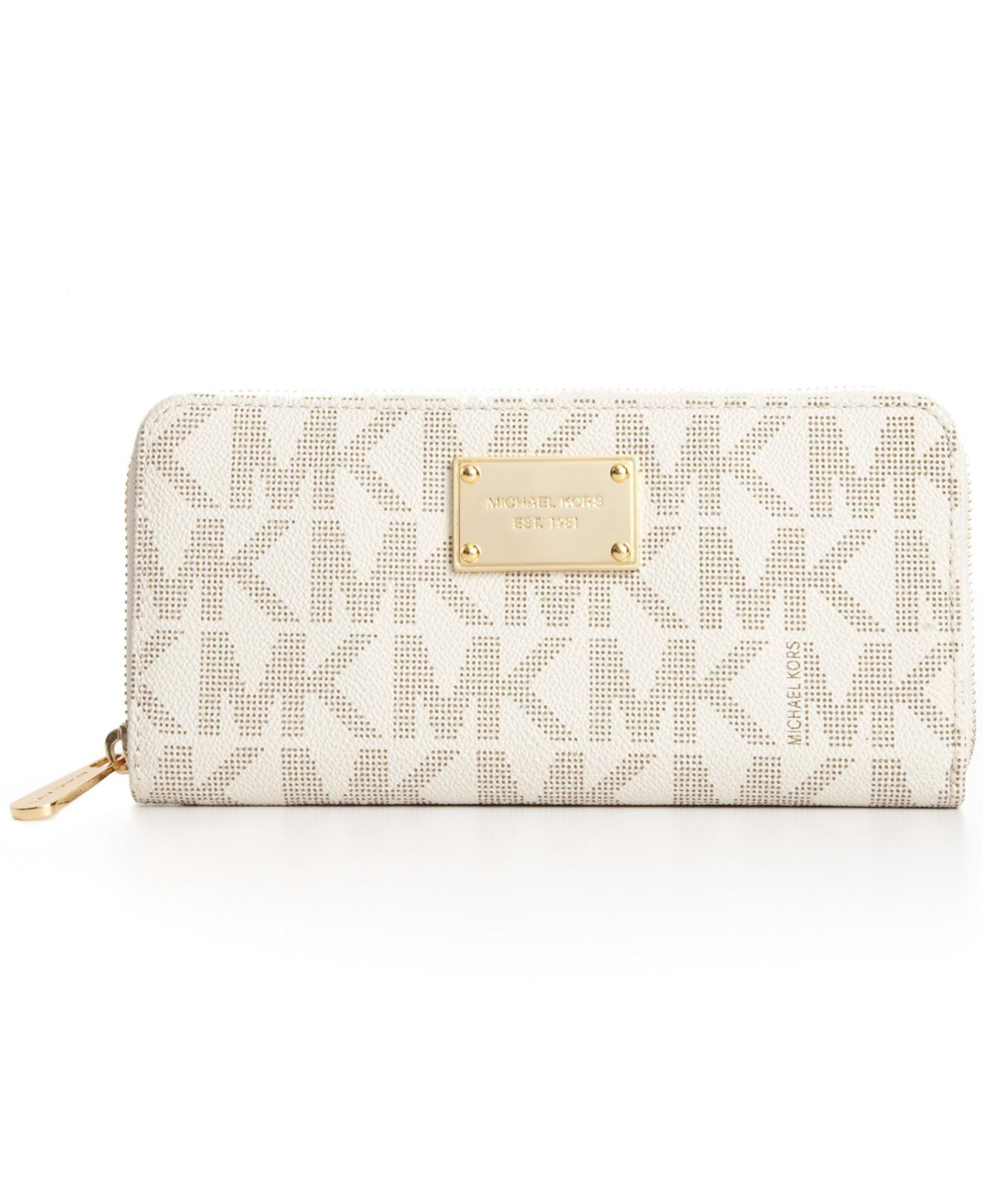 9f3a8547997fb2 MICHAEL Michael Kors MK Logo Zip Around Continental Wallet - Wallets &  Wristlets - Handbags & Accessories - Macy's