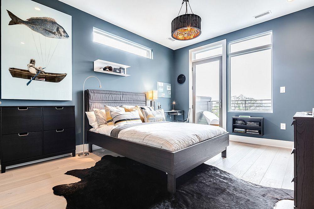 Schlafzimmer Blau ~ Helle und trendy: 15 fabelhafte graue und blaue schlafzimmer ideen