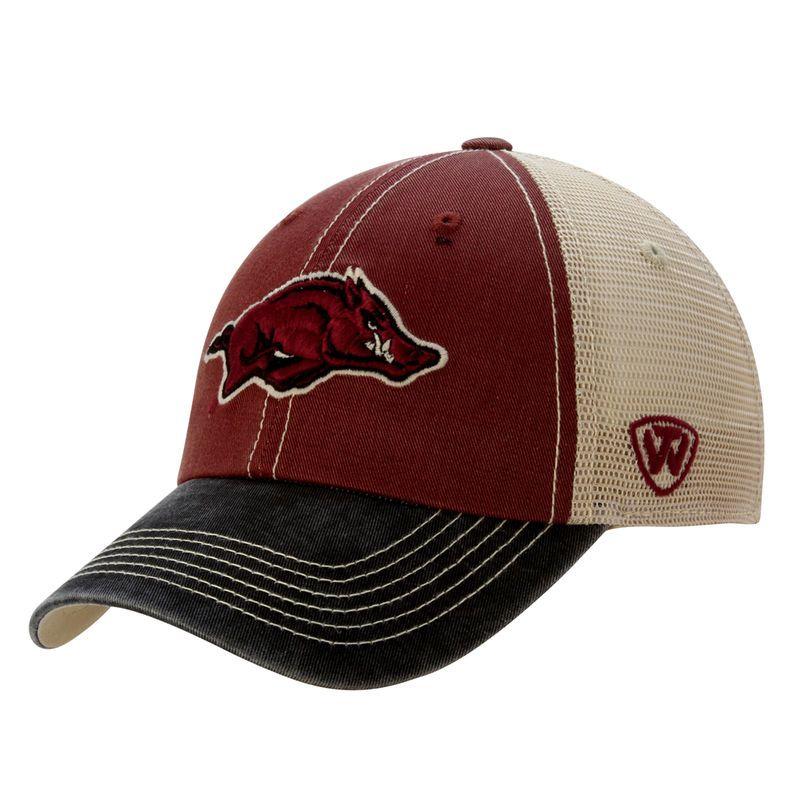 06e89305 Arkansas Razorbacks Top of the World Offroad Trucker Adjustable Hat -  Cardinal