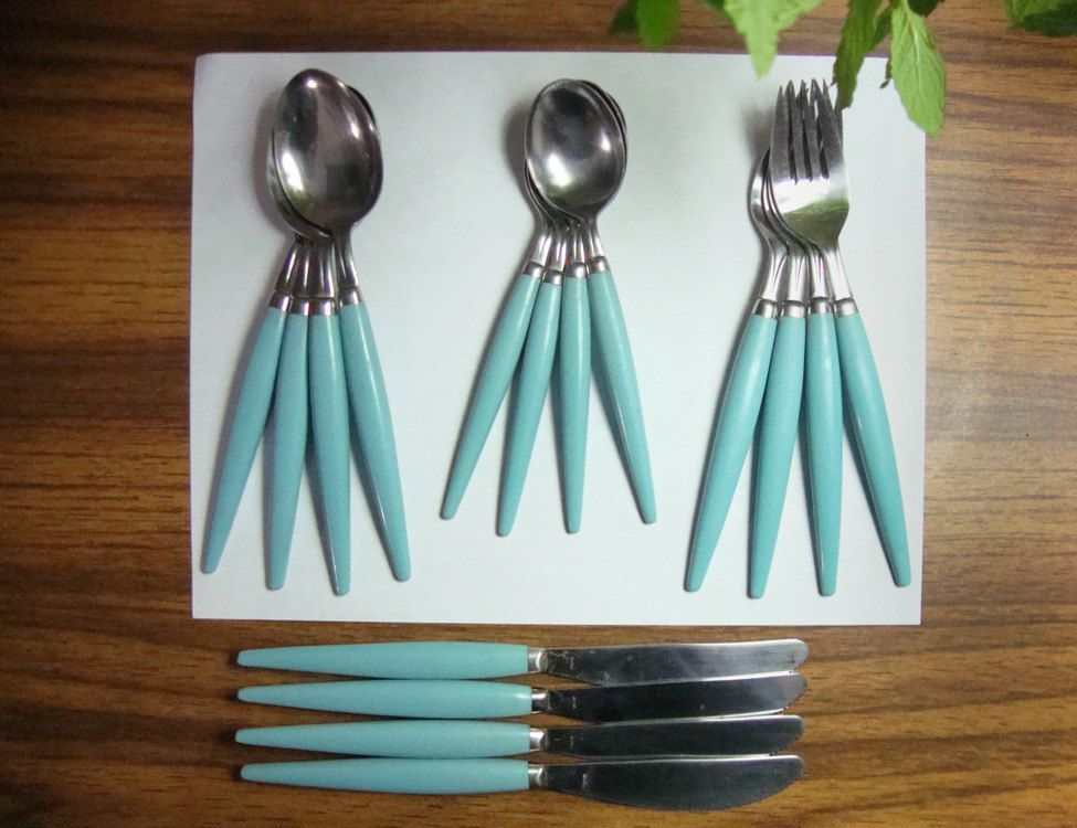 Vintage azul tiffany y turquesa pinterest accesorios for Accesorios de cocina vintage