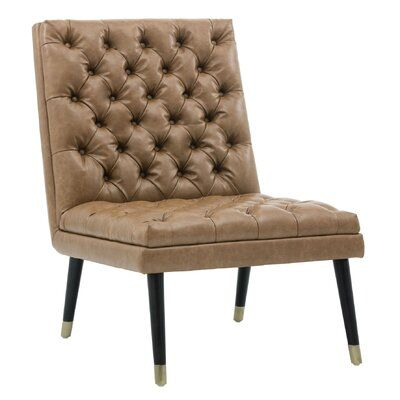 Best Sunpan Modern Wayne Slipper Chair White Leather Chair 400 x 300