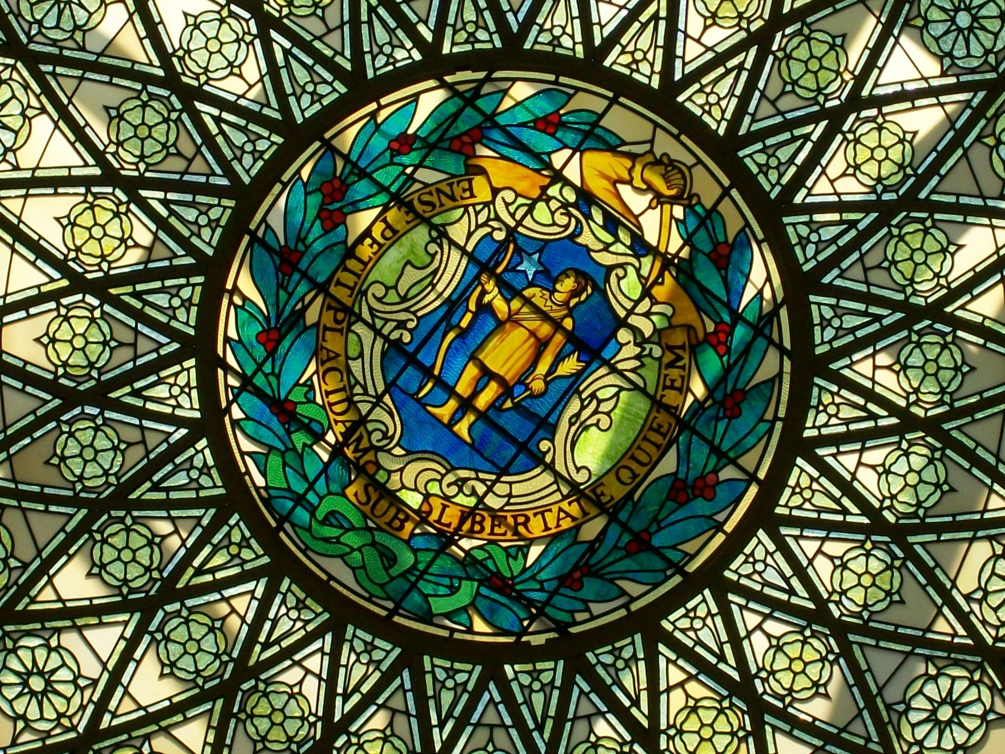 Gorgeous stained glass in the Boston capitol building