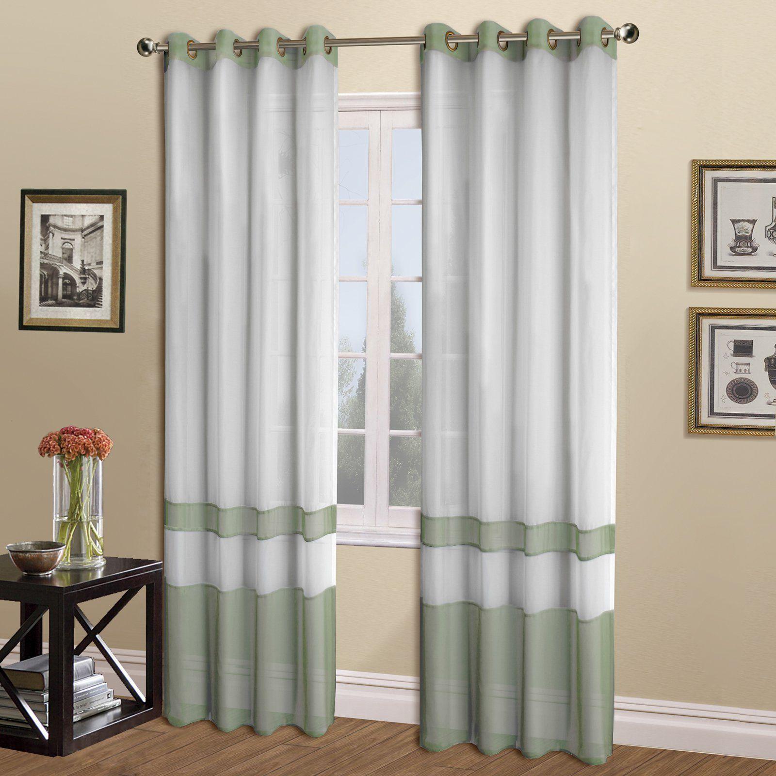 United Curtain Milan Curtain Panel Sage Curtains Panel Curtains