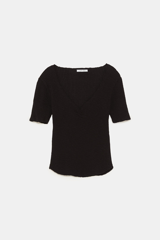 camiseta rib rustico.zara