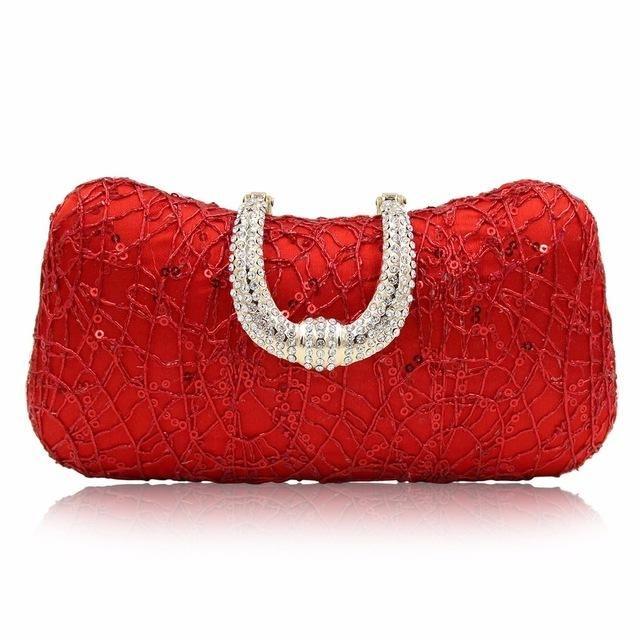Milisente Red Designer Clutches Luxury Crystal Evening Bags Silver Women  Tote Wedding Purse Handbags 6c0bc777ab23