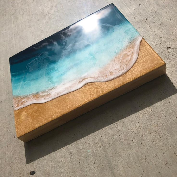 This is an amazing piece of artwork done by a friend! If you would like to see more like it, head over to haileynolin.com. Hailey creates beach artwork for everyday beach houses with a fine art twist. #oceanfineart #wavepainting #beachpainting #beachart