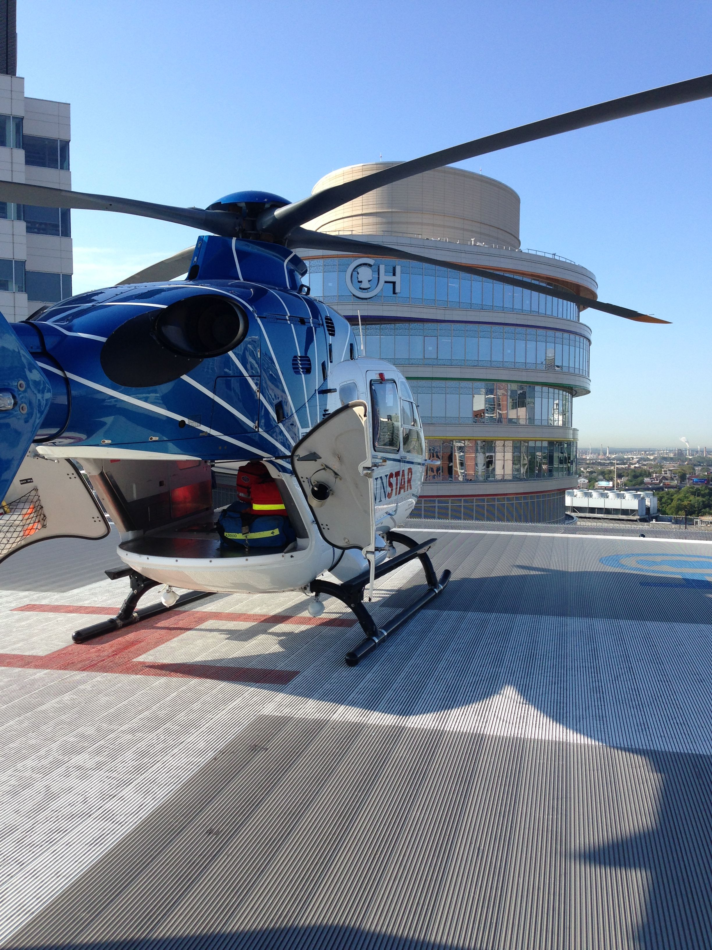 View from the helipad on top of Children's Hospital of