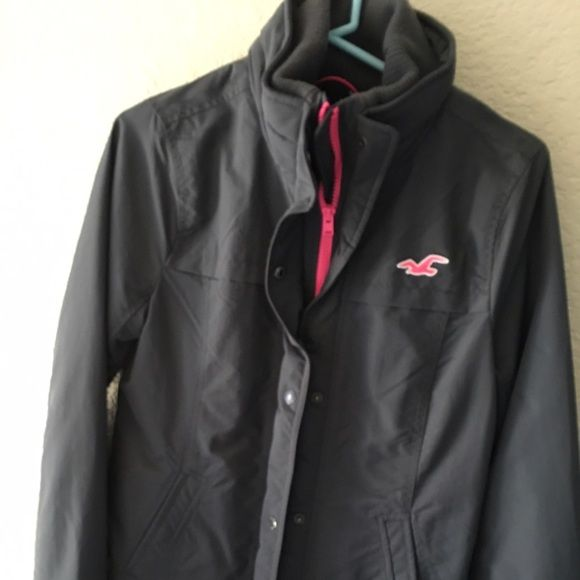 Hollister Jacket Brand New Never Worn Gray and Pink Hollister Jacket Hollister Jackets & Coats