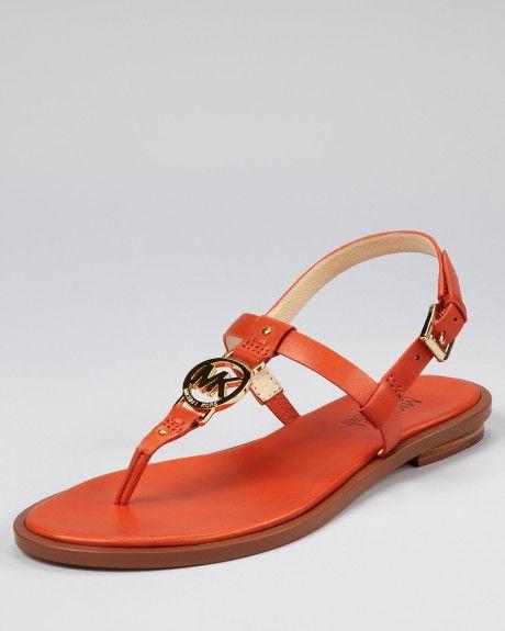 5b4f50ebf10 Michael Kors Sondra Flat Sandals in Orange (burnt orange)