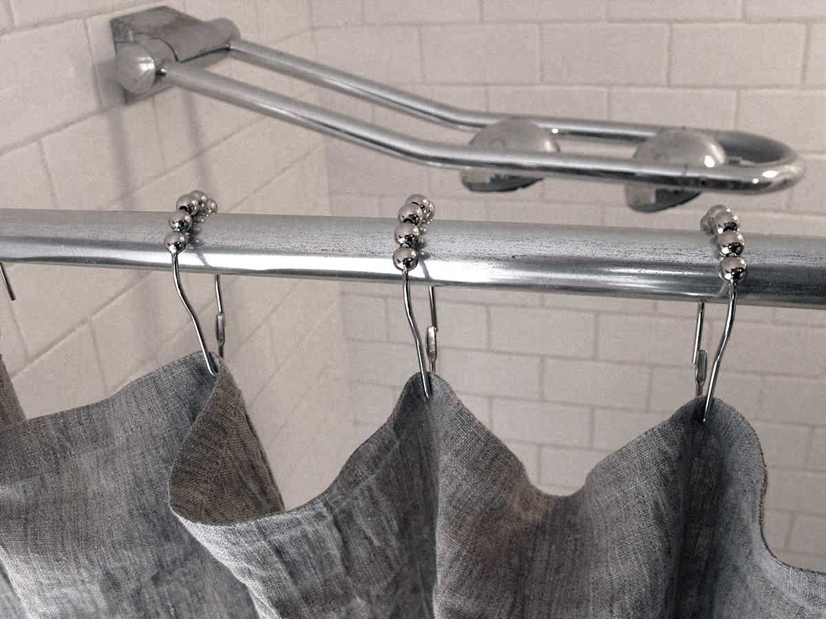 grey linen shower curtain. rough linen  shower curtain orkeny natural smooth 56 x 72