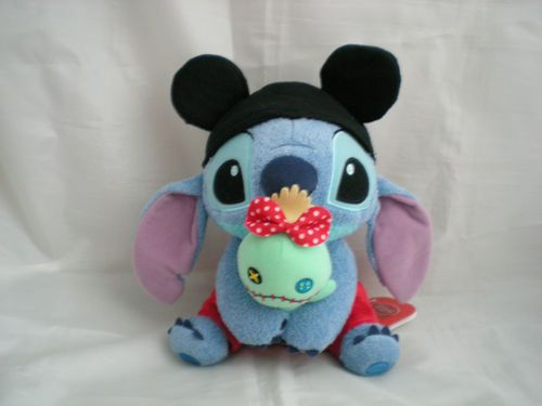 "Disney Store Stitch Scrump Mickey Mouse Cute Soft Plush Figue Japan 8"" Tall New 
