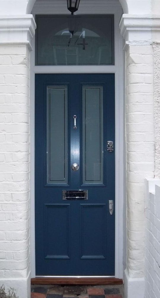 Victorian Front Door Fitted With Banham Locks Cotswood