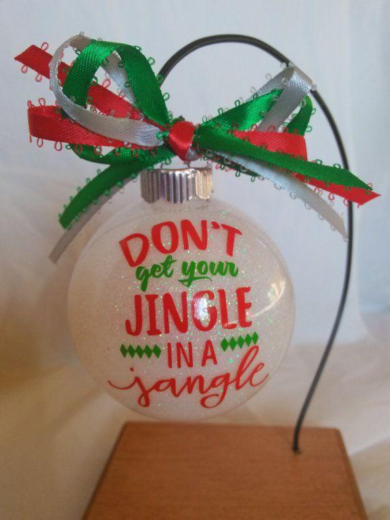 Custom Ornament Handmade Ornament Vinyl Ornament Christmas Decor Holiday Decor Gift For Her Gift Vinyl Ornaments Christmas Ornaments Boss Christmas Gifts