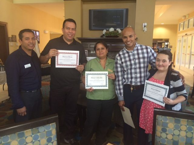 Hotel staff are so important and we want thank Marcos Rivas, Diana Vallecillo & Deva Gibson #employeeofthemonth at #HomewoodSuitesNearDisney #HiltonGardenInnNearDisney . Outstanding and a job well done.