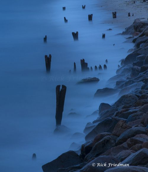 30 second exposure of dusk in Oak Bluffs, Martha's Vineyard, MA  http://rickfriedman.com