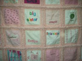 Grandma Barbara's Quilts & More: PRETTY PINK BABY CLOTHES QUILT