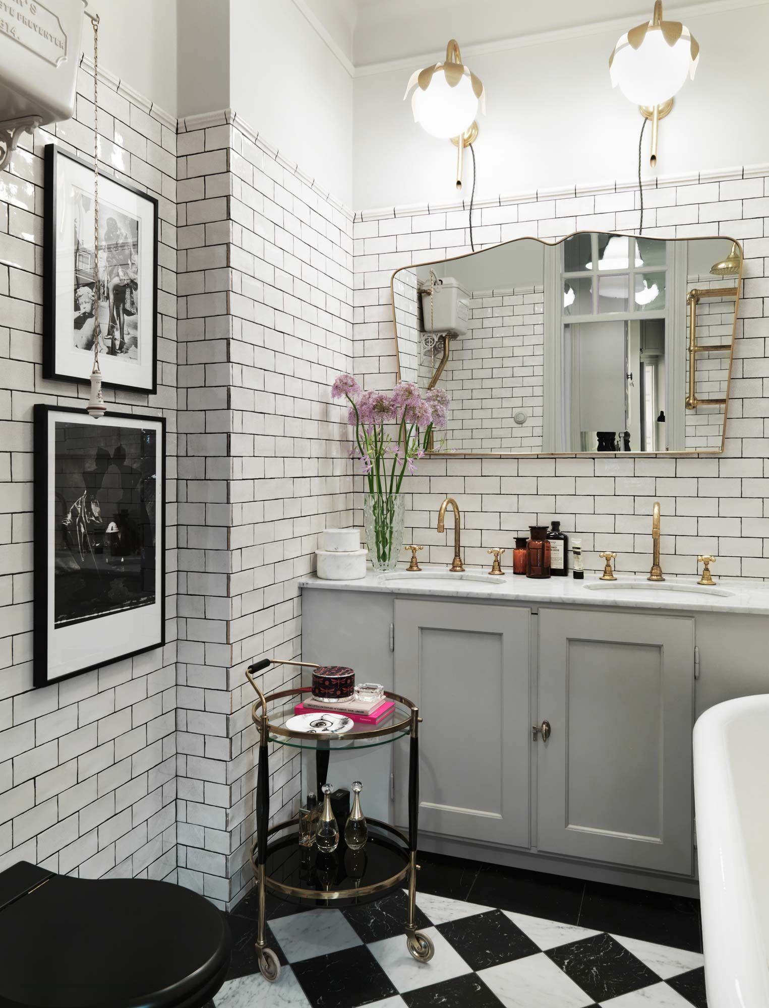 Gravity Home: Elegant Colourful Home | Bathrooms | Pinterest ... for Black And White Art Deco Bathroom  55jwn