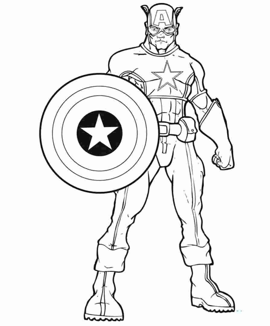 Captain America Coloring Pages New Coloring Captain Marvel Coloring Pages Get This America In 2020 Captain America Coloring Pages Superhero Coloring Avengers Coloring