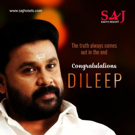 Congratulations Dileep. The truth always comes out in the ...