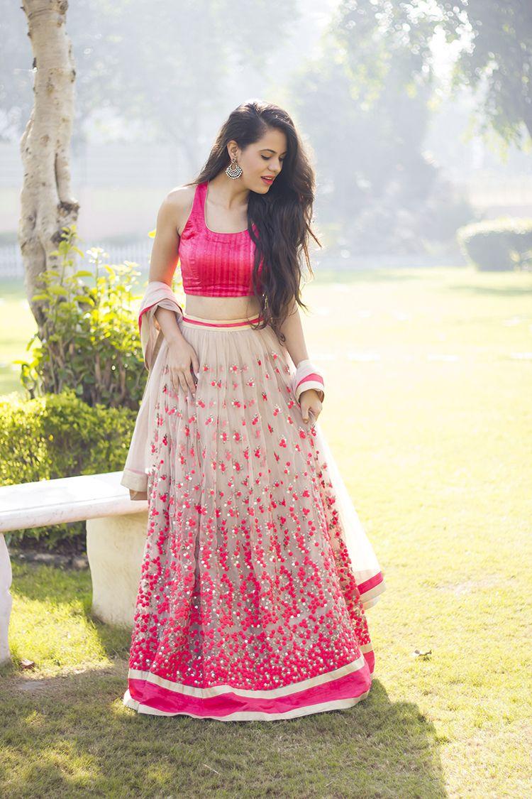 Aakriti Rana Gill: Design your own Lehenga | YouTubers | Pinterest ...