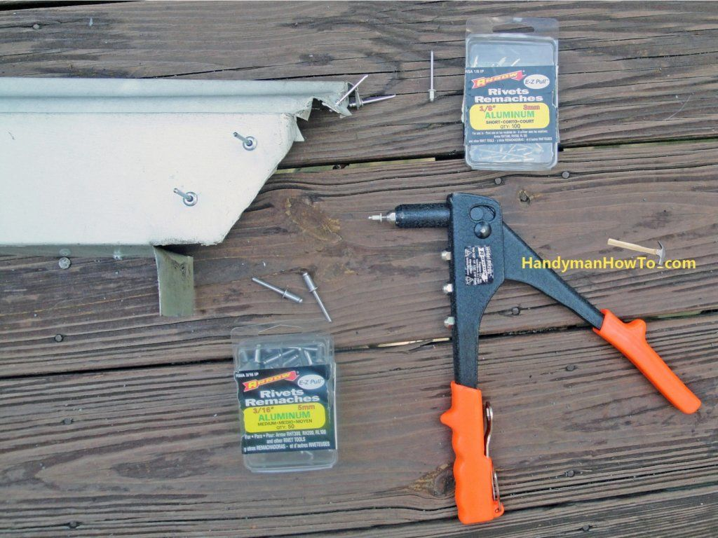 Pop Rivets For Joining Gutter Corners Gutters How To Install Gutters Diy Gutters