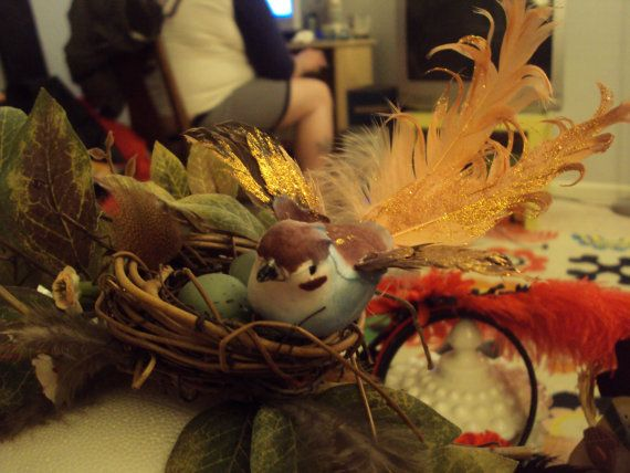 Bird Brain Accessories will be back again this year! See you February 15th!  Golden Birdy Fascinator by BirdBrainAccessories on Etsy
