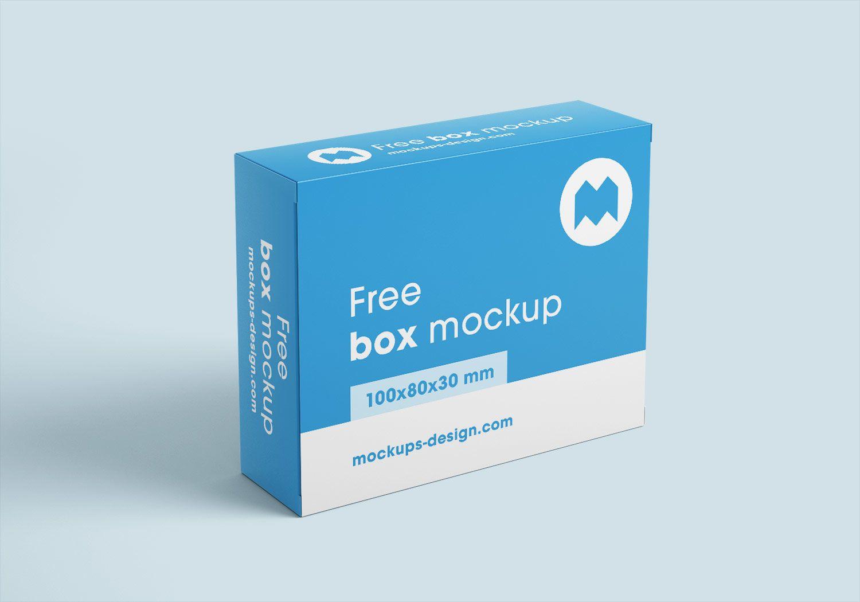 Free Box Mockups 100x80x30 Mm Free Mockup Box Mockup Free Boxes Design Mockup Free