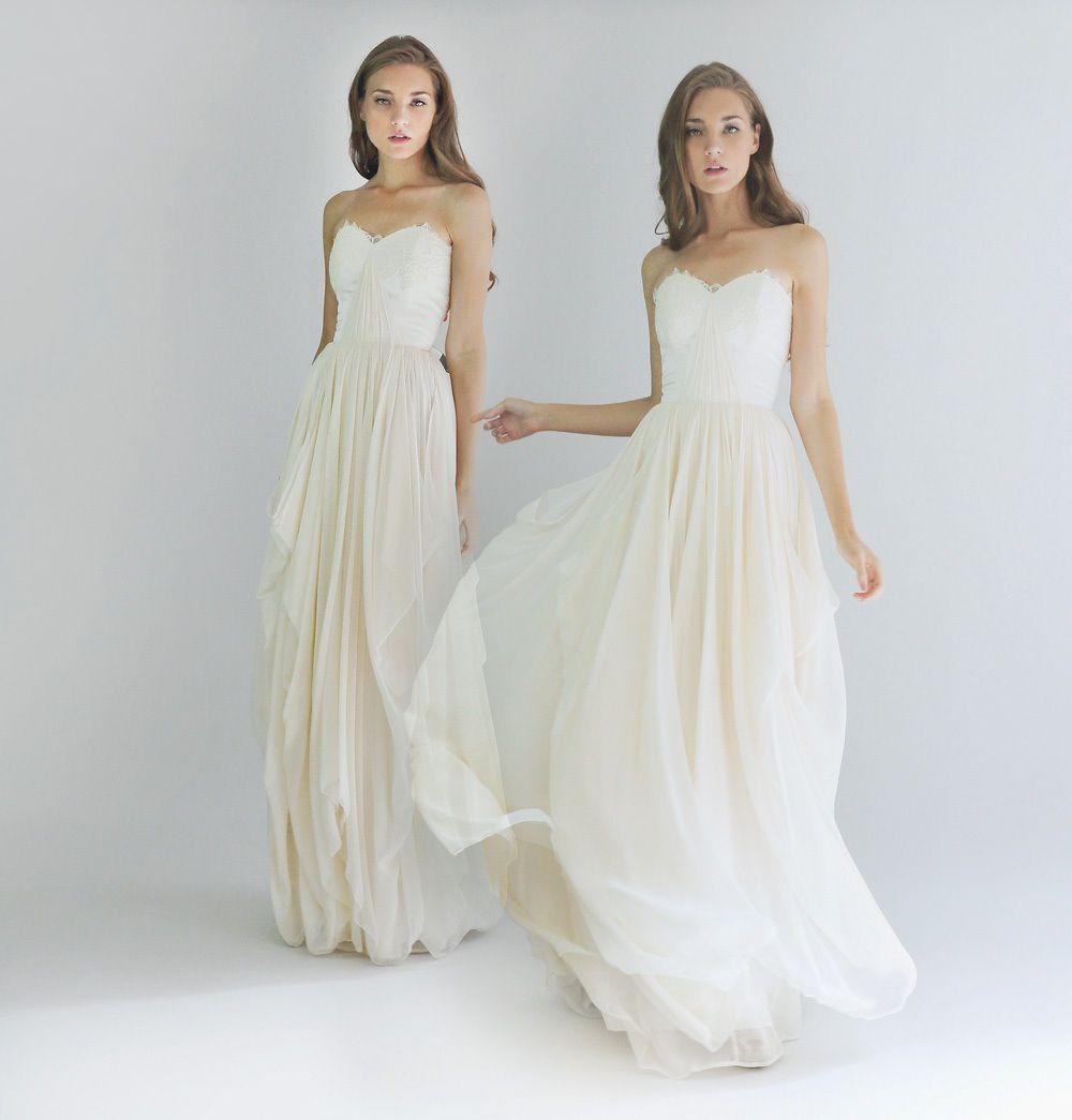 Flowy wedding dress with sleeves  Simple wedding dress  Wedding Dresses  Pinterest  Simple
