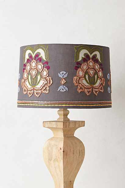 Safia Embroidered Lampshade - anthropologie.com #anthrofave