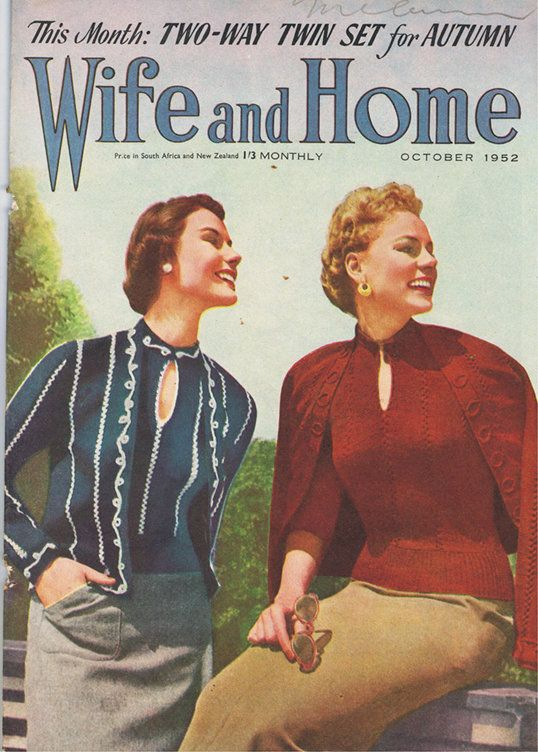 VINTAGE TREASURE - Wife and Home Magazine October 1952 www.vintagetreasure.co.nz