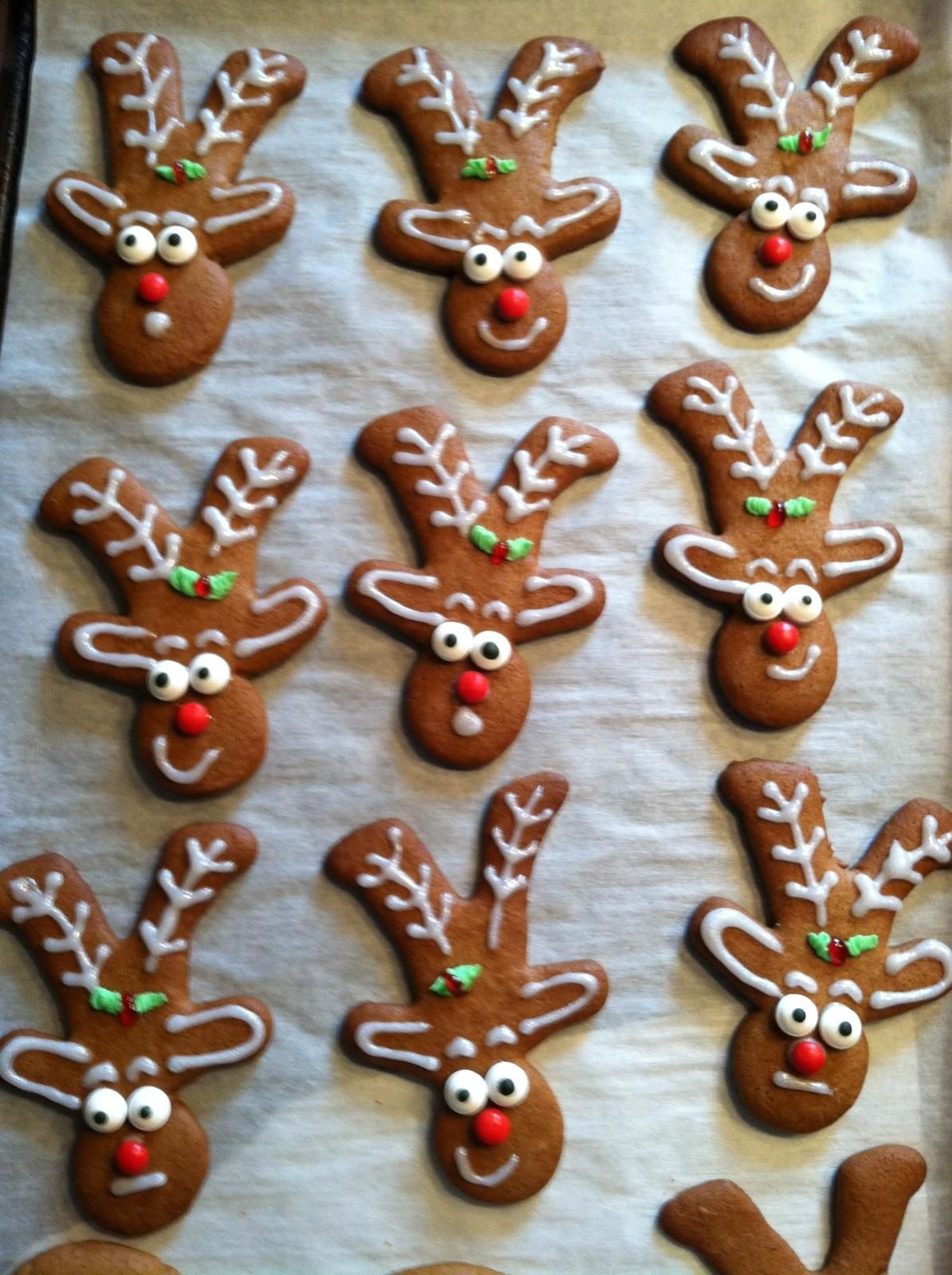 Reindeer Cookies Using Upside Down Gingerbread Man Cookie Cutter