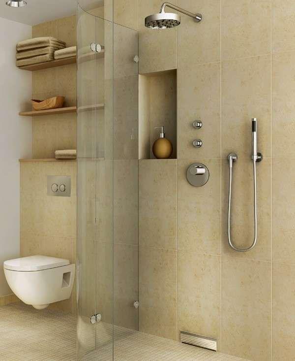 Arredo bagno in muratura bagno con piastrelle moderne for Piastrelle arredo bagno