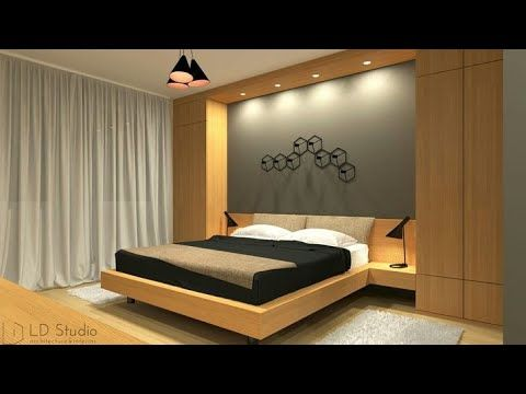 modern bedroom designs 2019 (20) Top 50 Modern Bedroom designs 2019 catalogue - YouTube | Dipakbhai in 2019 | Bedroom wall