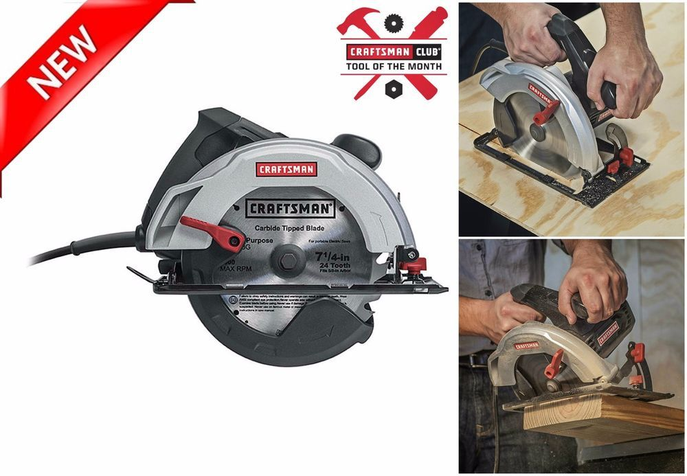 Craftsman Electric Circular Saw 12 Amp 7 1 4 Inch Power Tool Bevel Angle 0 52 Craftsman Circular Saw Electric Power Tools Craftsman