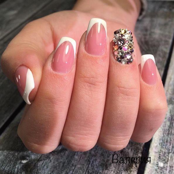 Amazing bling bling gel nails art design made by @_valerija ...