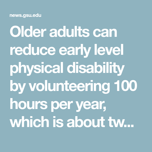 Older adults can reduce early level physical disability by