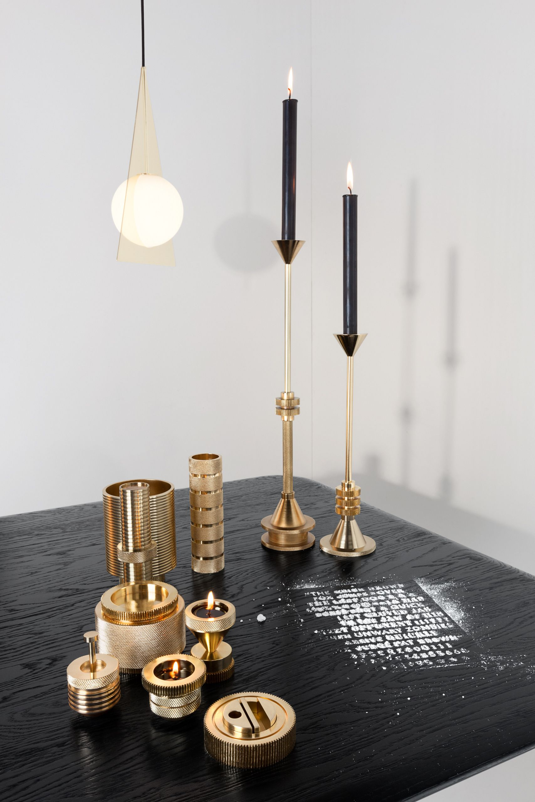 Cog accessories by tom dixon more brass design from tom for Cool candlesticks