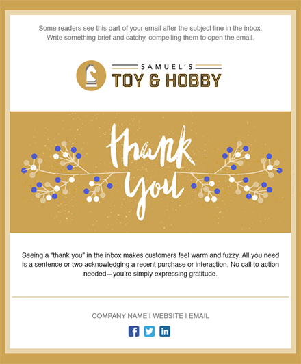 11 Holiday Email Templates for Small Businesses Nonprofits – Thank You Email Template