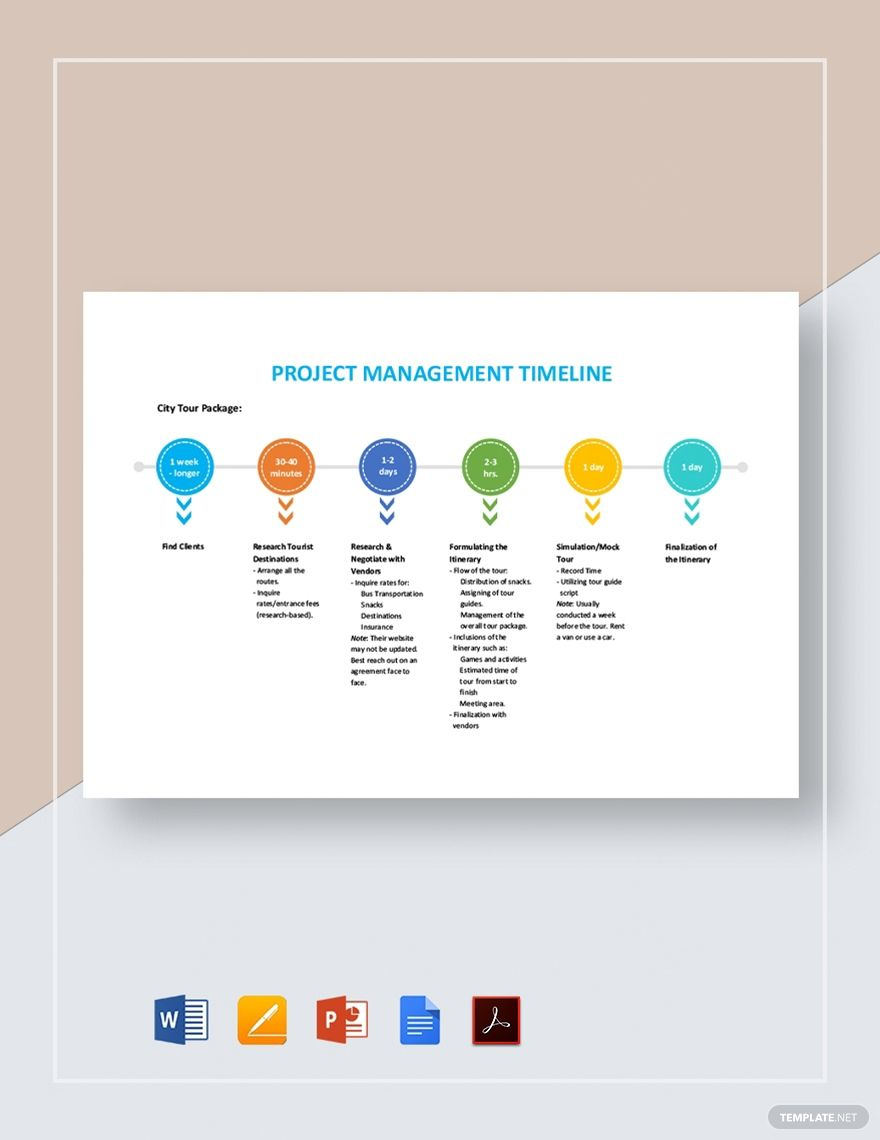 Project Management Timeline Template Free Pdf Google Docs Powerpoint Word Apple Pages Template Net Project Timeline Template Templates Project Management Project timeline template google docs
