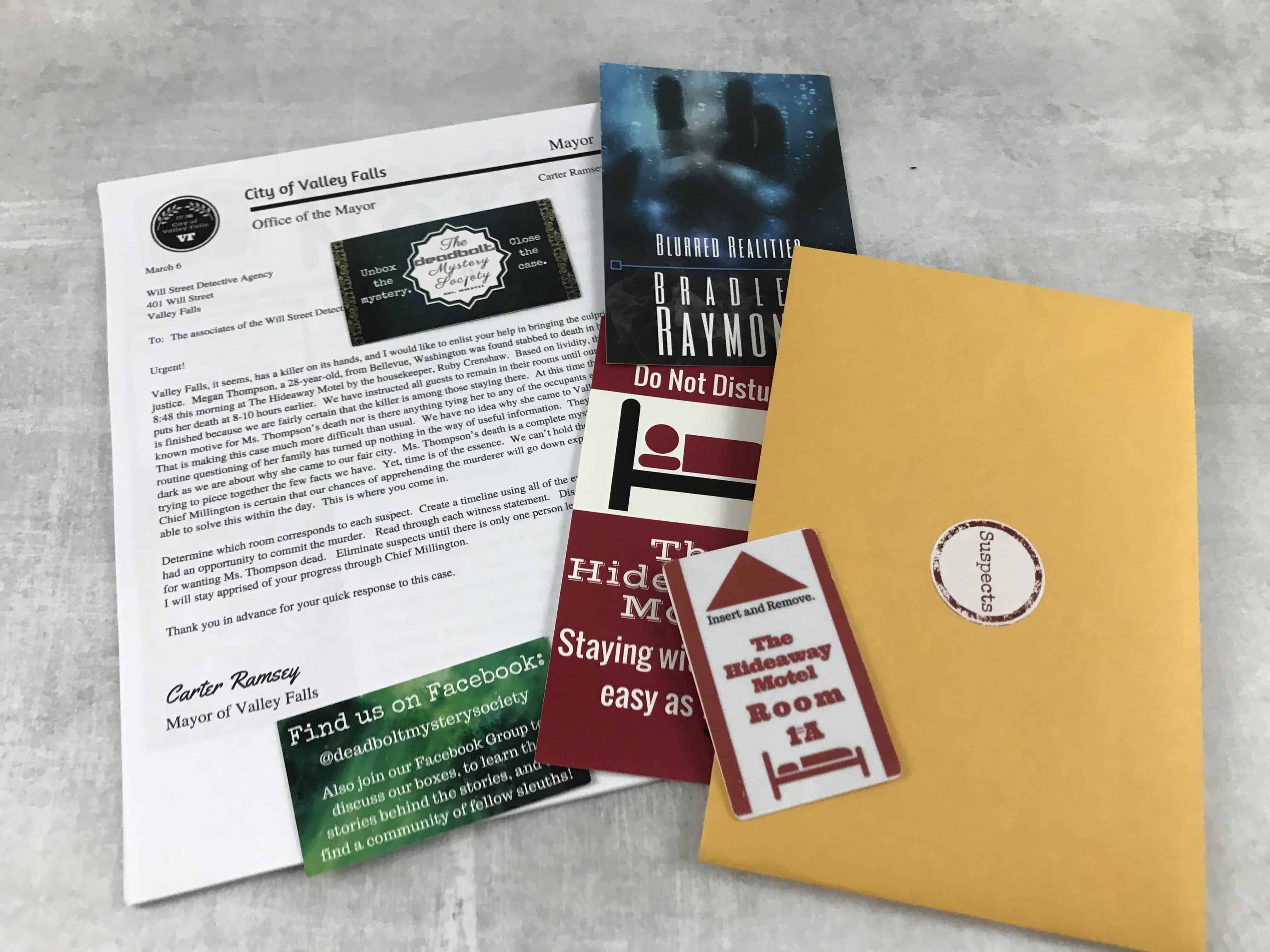 The Deadbolt Mystery Society - March 2018 Review
