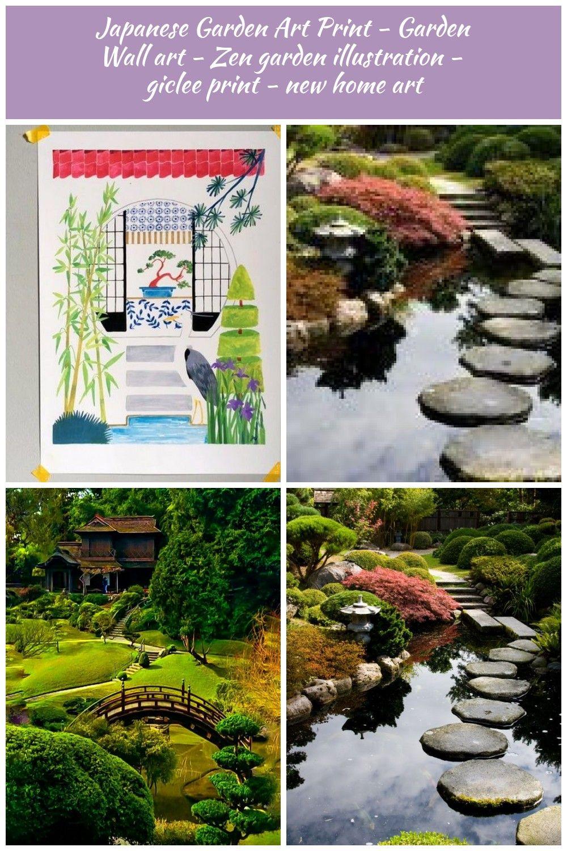 Japanese Garden Art Print Ga Garden Art Garden Japanese
