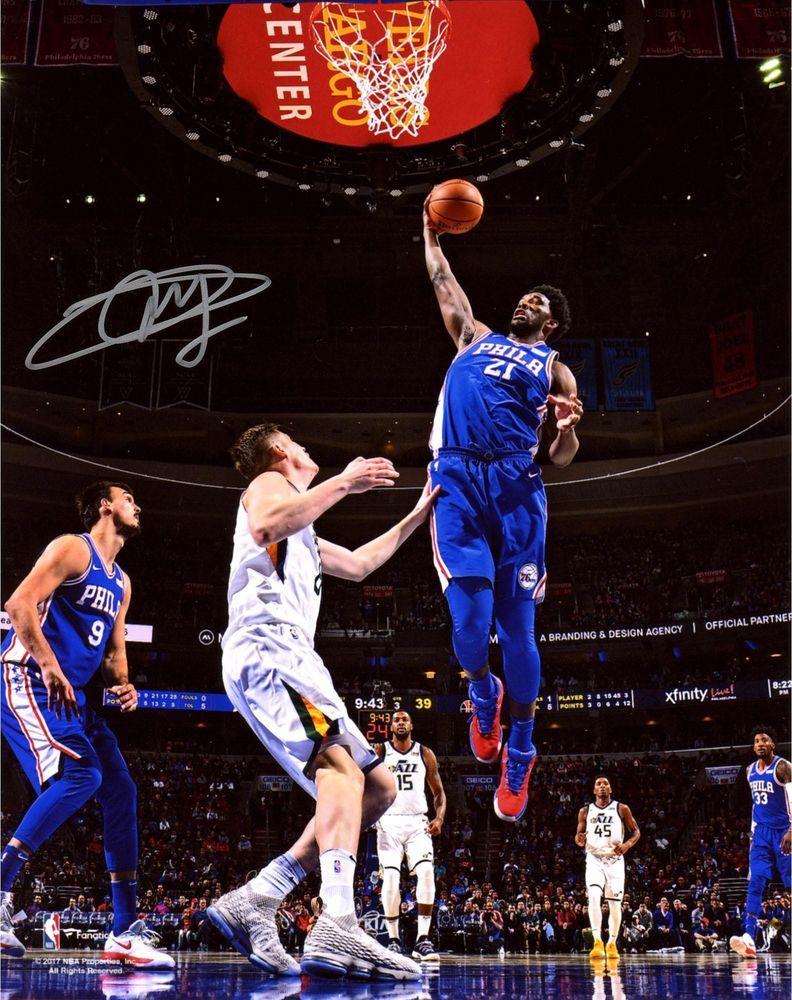 1230f5f1713 Joel Embiid Philadelphia 76ers Autographed 8