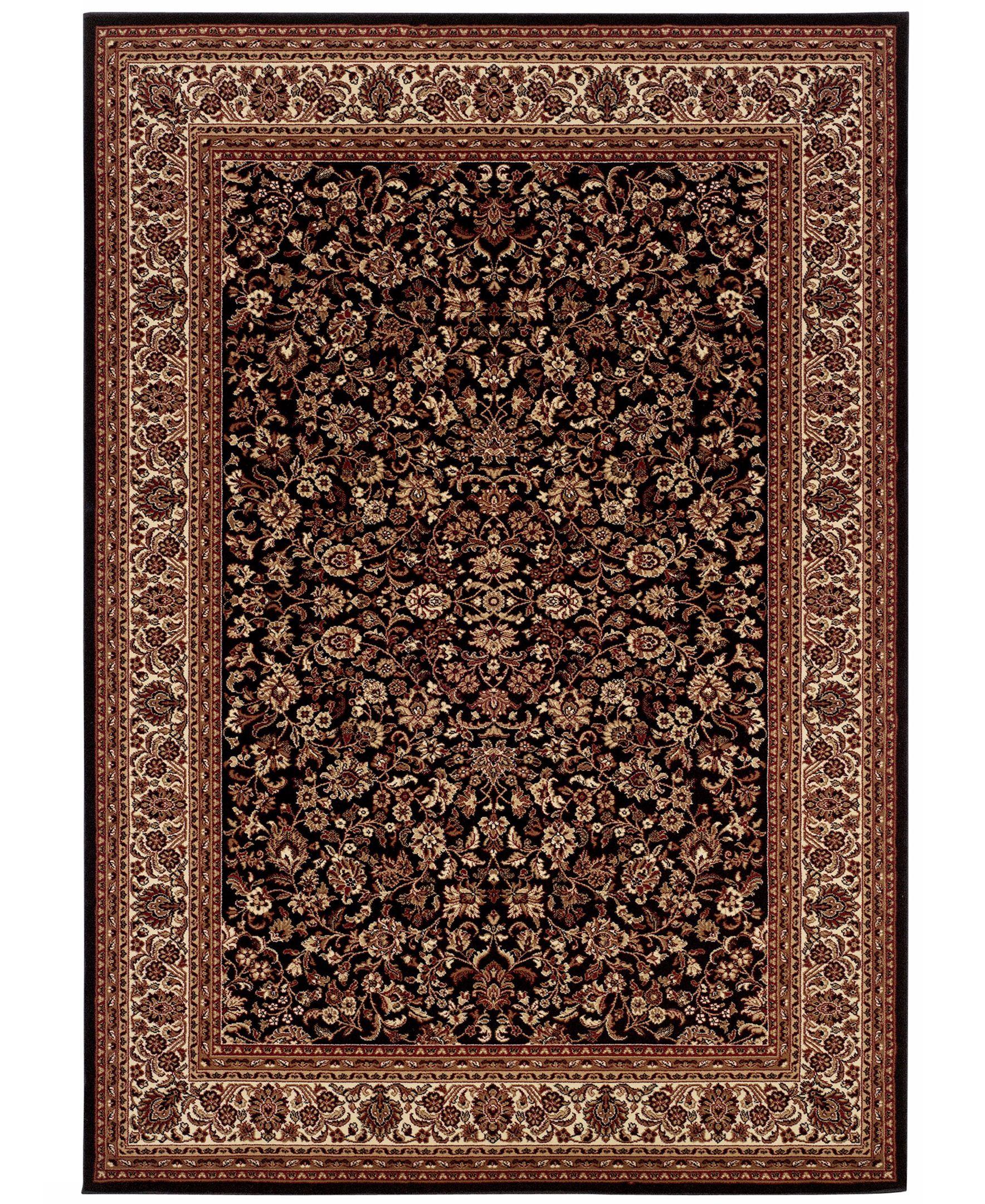 Couristan Area Rug Everest Isfahan Black 5 3 X 7 6 Tayse Rugs Black Area Rugs Area Rugs