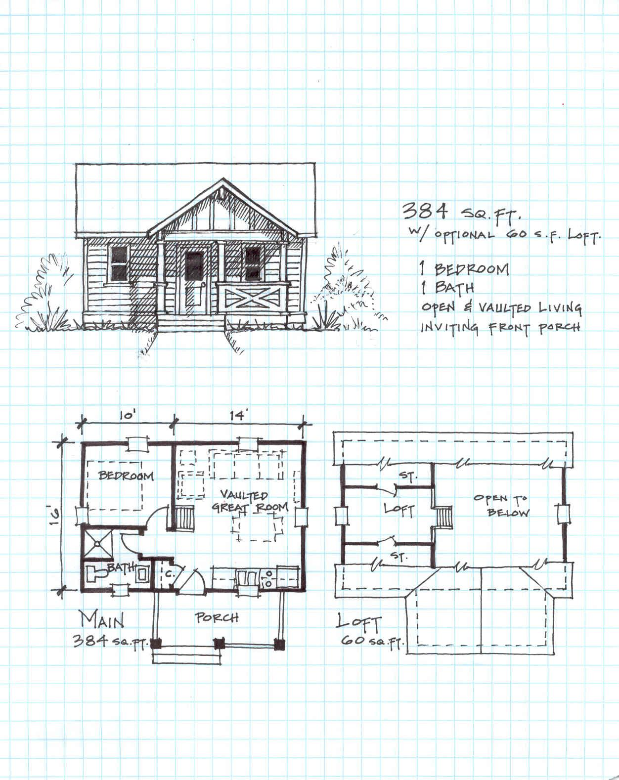 12x24 cabin plans google search montana pinterest for Sleeping cabin plans