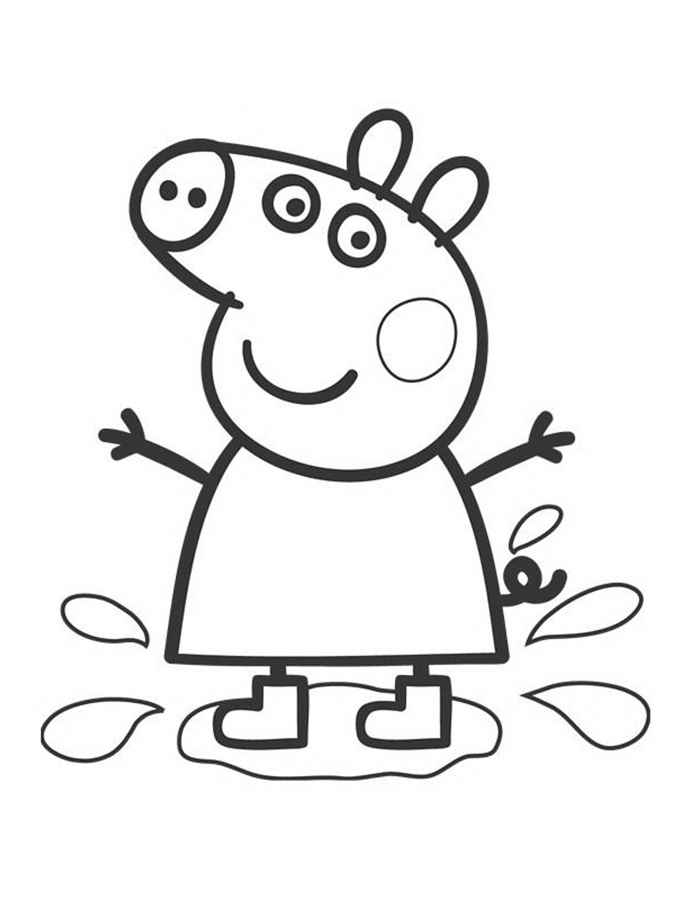 Peppa Pig Coloring Pages To Print For Peppa Pig Coloring Pages Peppa Pig Colouring Peppa Pig Birthday