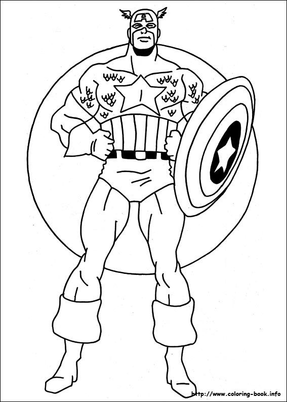 captain america coloring picture colour it in pinterest