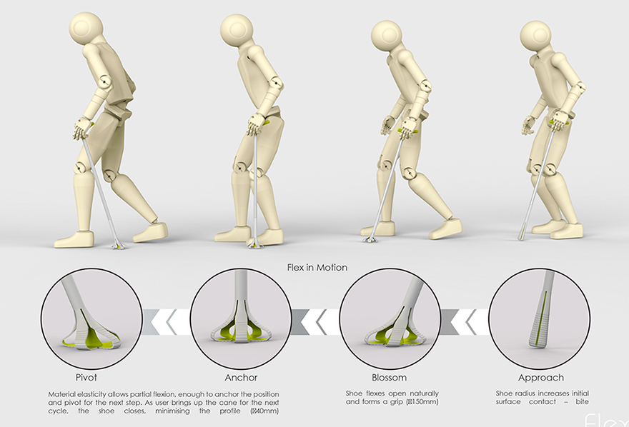 Flex is a cane that seeks to redefine mobility for the elderly