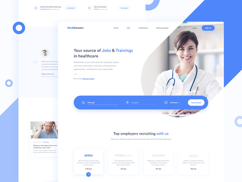 Medical ui design health care