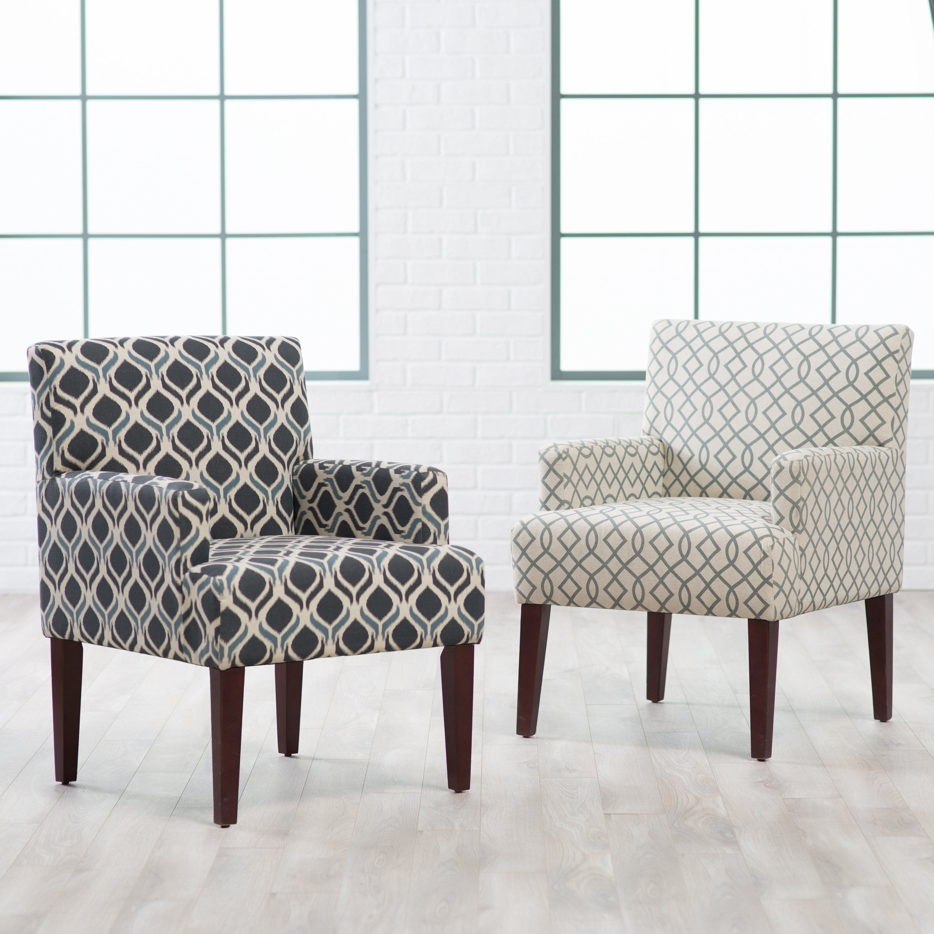 Belham living geo accent chair with arms when youre piecing together a living room or bedroom seating ensemble the transitional belham living geo accent
