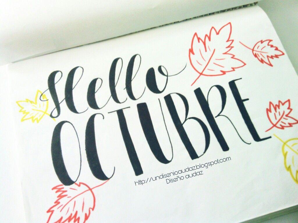 Octubre lettering Handlettering Hello octubre Lettering | Lettering ...